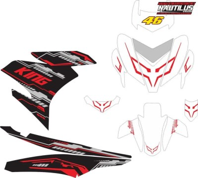 STICKER STRIPING DECAL MOTOR YAMAHA MX KING hi-tech putih