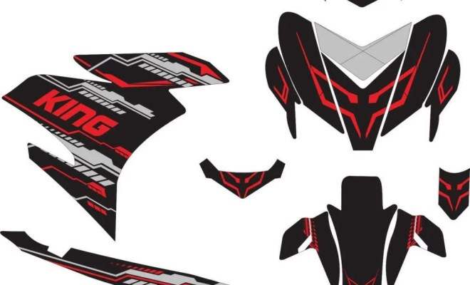 STICKER STRIPING DECAL MOTOR YAMAHA MX KING hi-tech