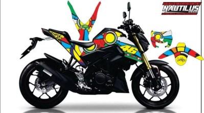 STICKER STRIPING DECAL MOTOR yamaha xabre vr46 sun&moon