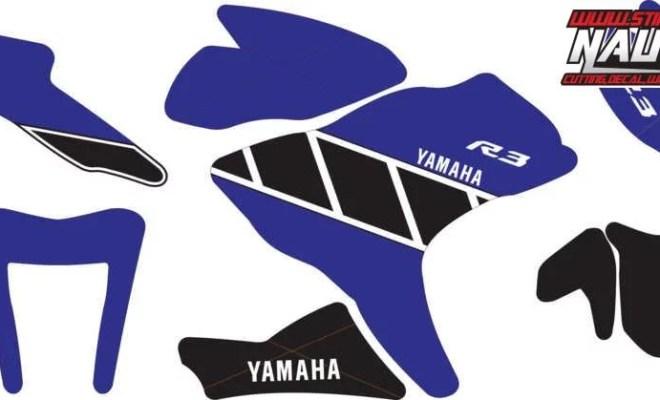 Stiker R25 Livery MotoGP 50th Anniversary blue