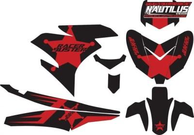 Stiker Motor YAMAHA MX KING 150 racer buster black