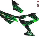 Stiker satria fu fire green