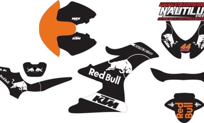 Stiker Motor suzuki GSX-R150 ktm livery red bull motogp 2017 v2