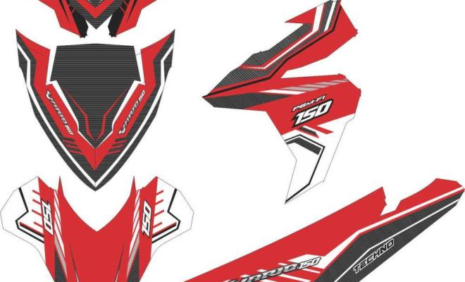 Stiker Motor vario esp 125-150 simple decal