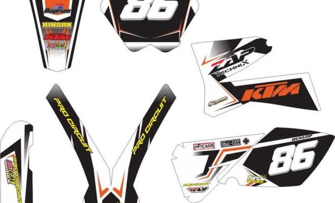 Stiker KTM 85 motocross enduro supermoto
