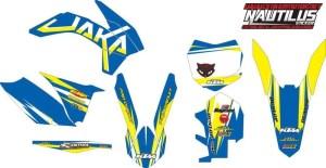 Stiker KTM sixdays
