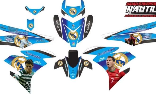 Stiker mx king real madrid blue