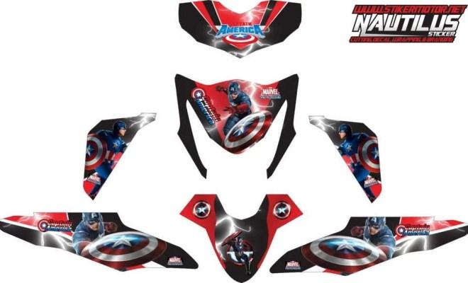 Stiker BEAT fi captain america
