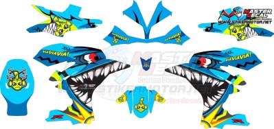 Stiker R15 shark vr46