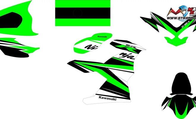 Stiker ninja fi 250 2018