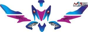 Stiker aerox 155 shark v4