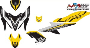 Stiker aerox 155 street racing yellow v2