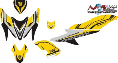 Stiker aerox 155 street racing yellow v3