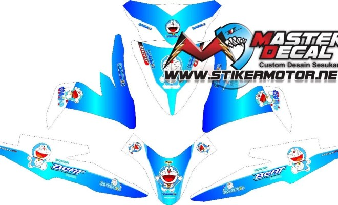 Stiker all new beat esp doraemon