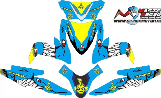 Stiker all new beat esp shark
