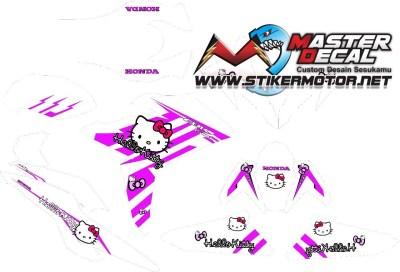 Stiker all new cbr 150 hello kity