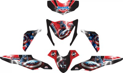 Stiker BEAT fi captain america