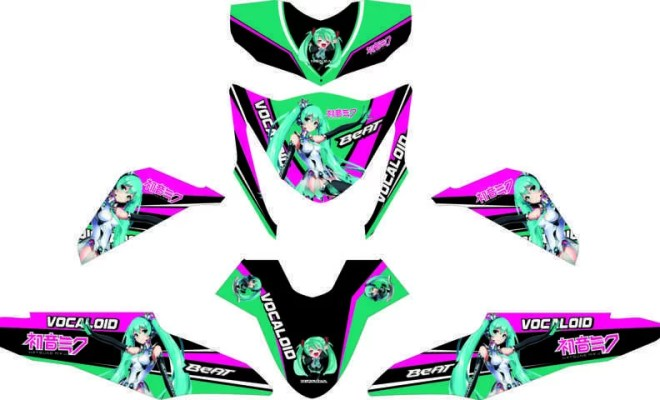 Stiker BEAT FI hatsune miku racing 3 (FILEminimizer)