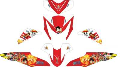 Stiker beat fi one piece white