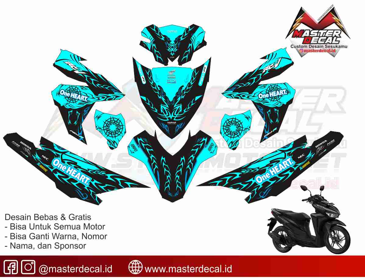 STICKER STRIPING DECAL MOTOR YAMAHA MX KING ken block hoonigan