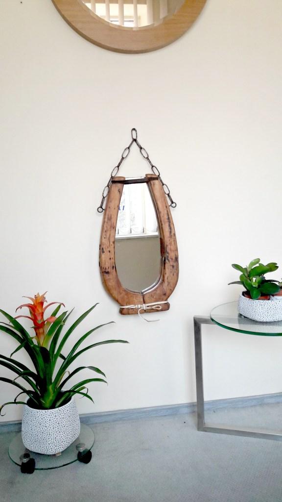 Senoviškas veidrodis LAIMĖS PASAGA 300x550 mm kabinamas