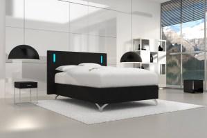 SAM® Design Boxspringbett 140 x 200 cm schwarz Frame Graciano
