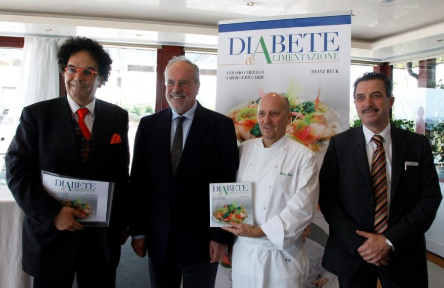 Da sx Daniel Della Seta, Gabriele Riccardi, Heinz Beck, Sergio Cori