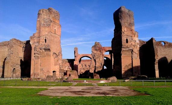Veduta delle Terme di Caracalla in Roma