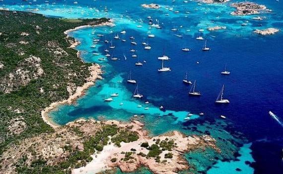 Veduta dell'Arcipelago della Maddalena