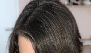 Meine Haare sind gar nicht so grau wie ich erwartet hatte. Eher Salz und Pfeffer.