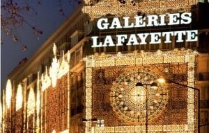 Galeries Lafayette Christmas Lights in Paris in january