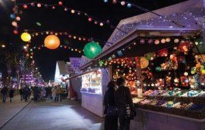 Kerstmarkt Champs Elysées Parijs