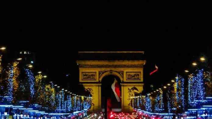 Champs Elysees Xmas Lights in Paris