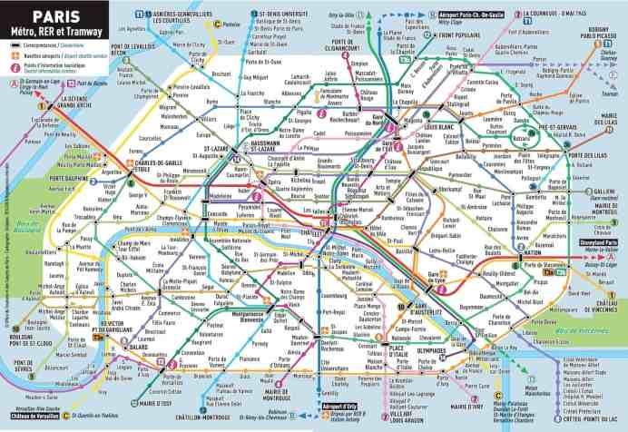 Mapa y billetes del metro de París 2020