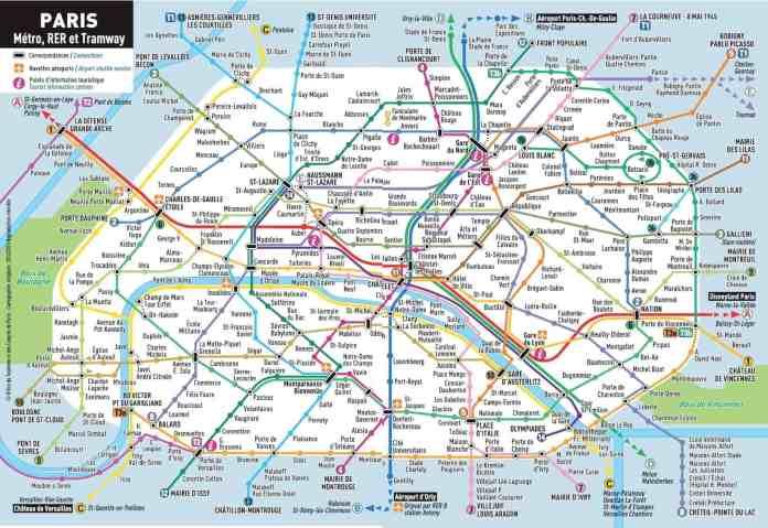 Paris Metroplan, Zonen, Tickets und Preise für 2020