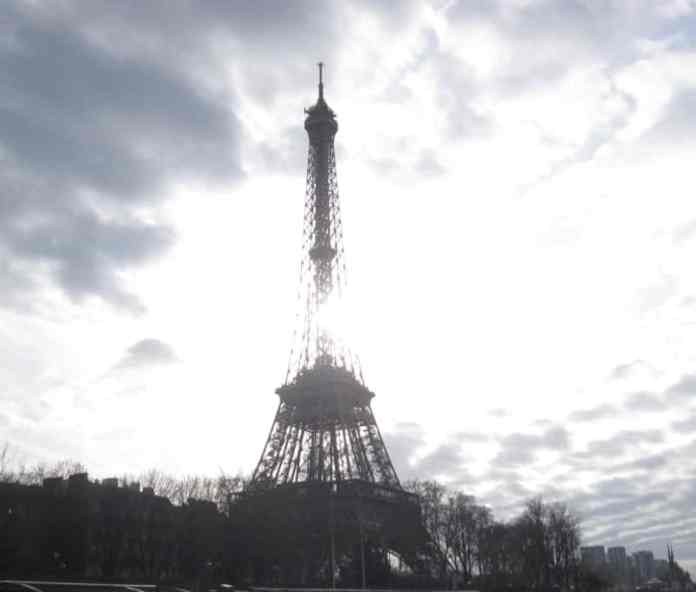 Eiffel Tower seen from a Seine river cruise