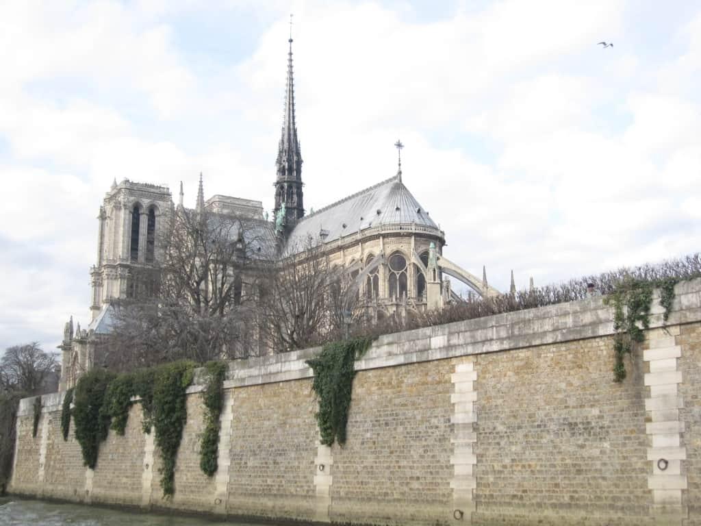 Notre Cathedral in Paris - cité Island