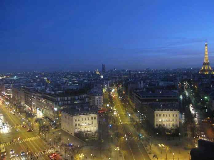 Vista de París desde el Arco del Triunfo