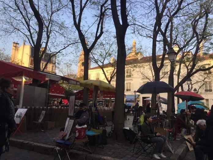 Place du Tertre at Montmartre Paris