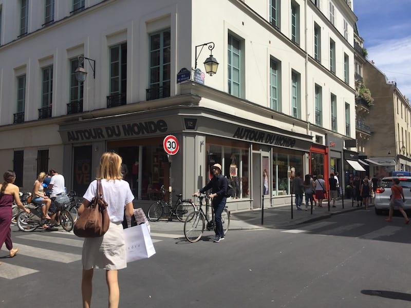 Marais trendy neighborhood in Paris