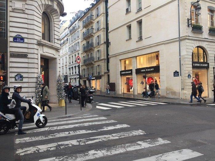 Saint Honoré Shopping street in Paris