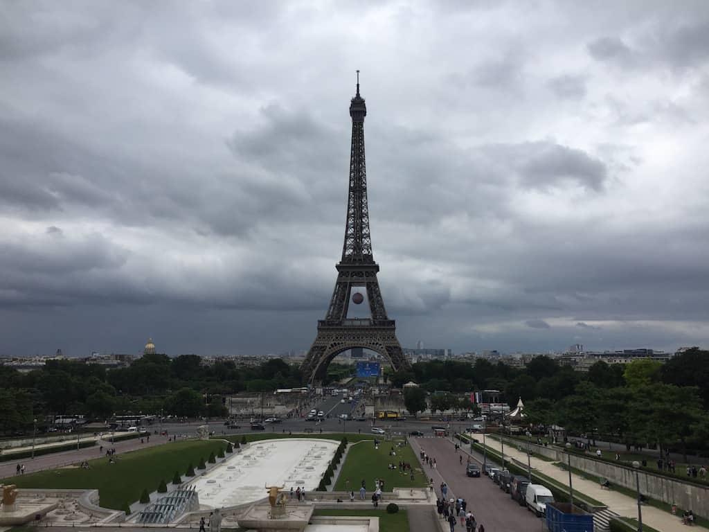 Eiffeil Tower from Trocadero in Paris