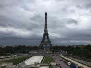 Eiffeil Tower from Trocadero in Paris