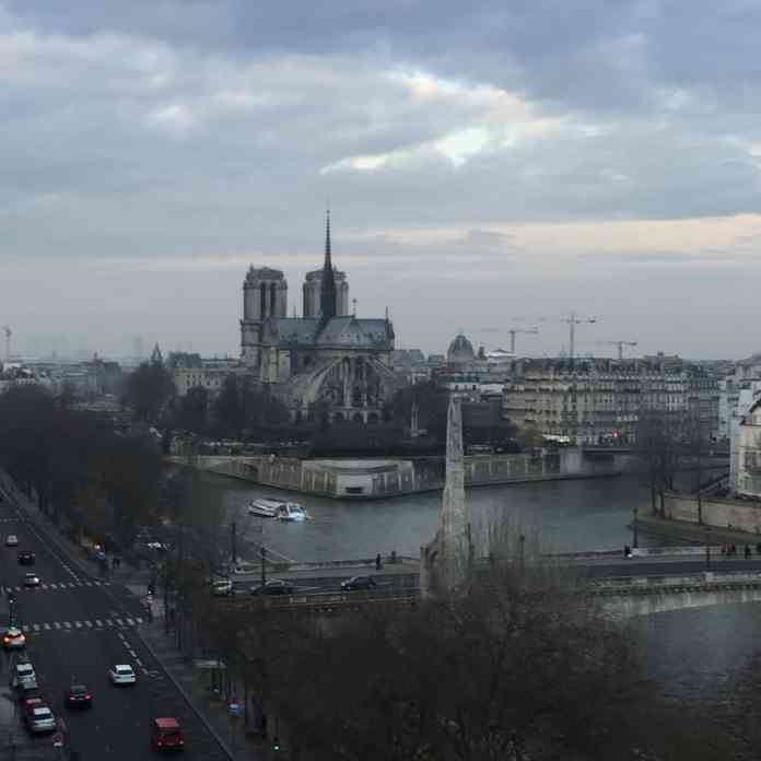 Notre Dame de Paris - view from Arab World Institute