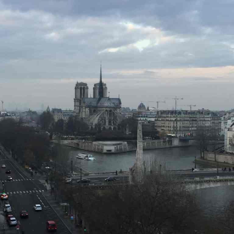 Notre Dame de París - vista desde el Instituto del Mundo Arabe