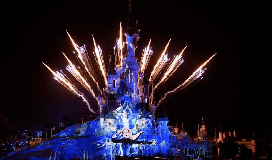 New Year's Eve fireworks at Disneyland Paris