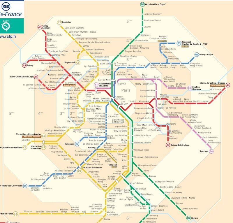 Subway Map Paris English.Paris Metro Map Zones Tickets And Prices For 2019 Stillinparis