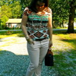 The Aztec Printed Shirt, Pink Jeans, & a Weekly Link-Up is COMING!