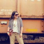 Casual Saturday Fashion | Stripes + Safari Pants