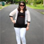 Maternity Style | Black, White, and Lace